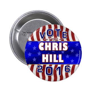 Chris Hill President 2016 Election Republican Button