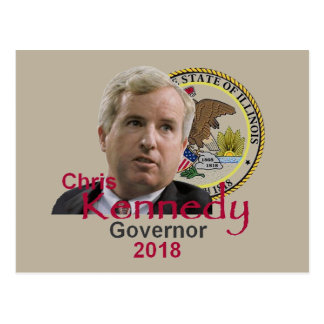 Chris KENNEDY Governor Postcard