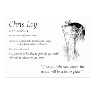Chris Loy Fairy Godmother Business Card