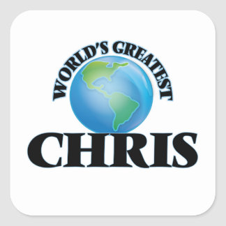 Chris más grande del mundo pegatinas cuadradas personalizadas