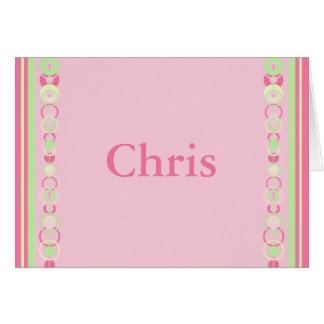 Chris Modern Circles Name Card