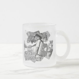 Chris Rybak - Kloesel poster - Black white Frosted Glass Coffee Mug