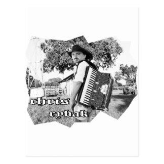 Chris Rybak - Kloesel poster - Black white Postcard