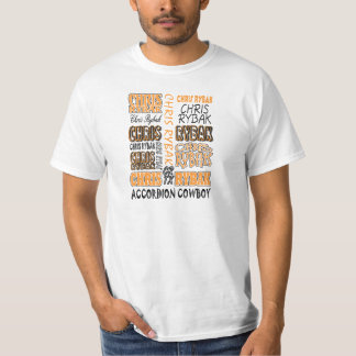 Chris Rybak over over logo - Orange black T-Shirt