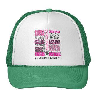 Chris Rybak over over Logo - Pink black Mesh Hat