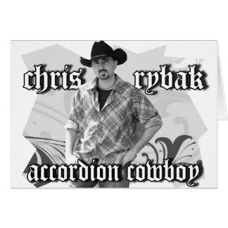 Chris Rybak poster - Black white Card