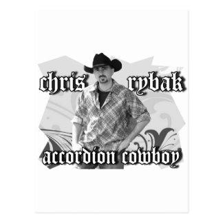 Chris Rybak poster - Black white Postcard