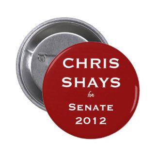 Chris Shays para el botón del senado Pins