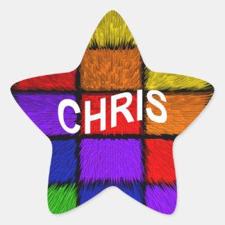 CHRIS STAR STICKER