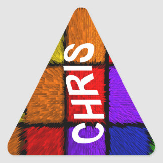CHRIS TRIANGLE STICKER