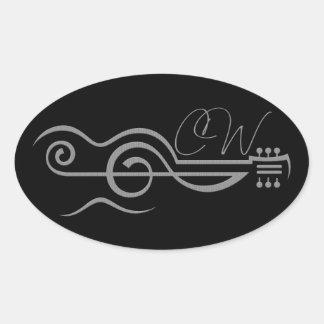 Chris Woodward Treble Guitar Logo Sticker