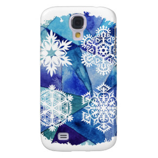 Chrismas decor,water color painting,ice crystals,d galaxy s4 cover