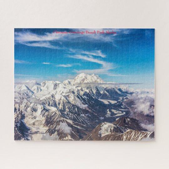 Chrismas Greetings Denali National Park Alaska. Jigsaw ...