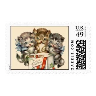 Chrismas Kitties Postage