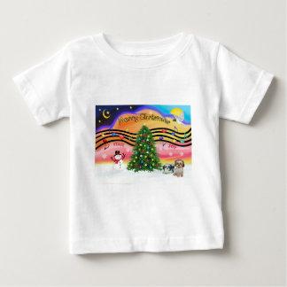 Chrismas Music 2 - Shih Tzu (two) Baby T-Shirt