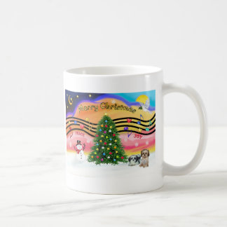 Chrismas Music 2 - Shih Tzu (two) Classic White Coffee Mug