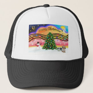 Chrismas Music 2 - Shih Tzu (two) Trucker Hat