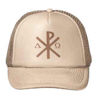 Chrisme Alpha Omega aspect terre. Mesh Hats
