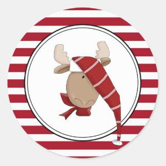 Chrismoose Holiday Envelope Seals Stickers