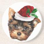 Chrismtas Yorkshire Terrier puppy dog Coaster