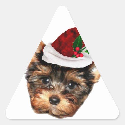 Chrismtas Yorkshire Terrier puppy dog Stickers
