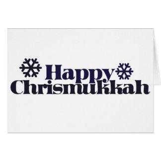 Chrismukkah feliz tarjeta de felicitación