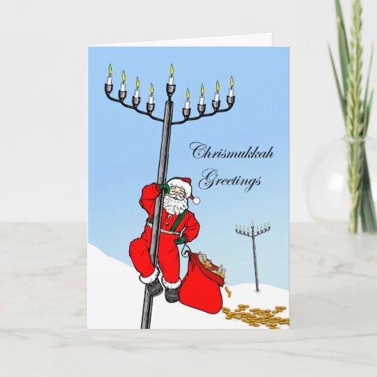 Chrismukkah, Interfaith Holiday, Santa And Menorah Holiday