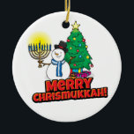 """Chrismukkah tree ornament<br><div class=""""desc"""">For every home that celebrates both Christmas and Hannukah! A tree ornament to add to your collection. Or buy as a gift for someone you care about this holiday season!</div>"""
