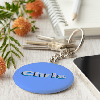 Chris's blue key chain
