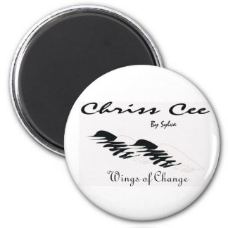 Chriss Cee collection 2 Inch Round Magnet