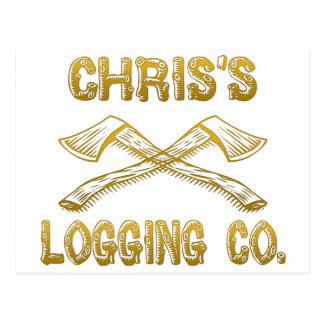 Chris's Logging Company Postcard