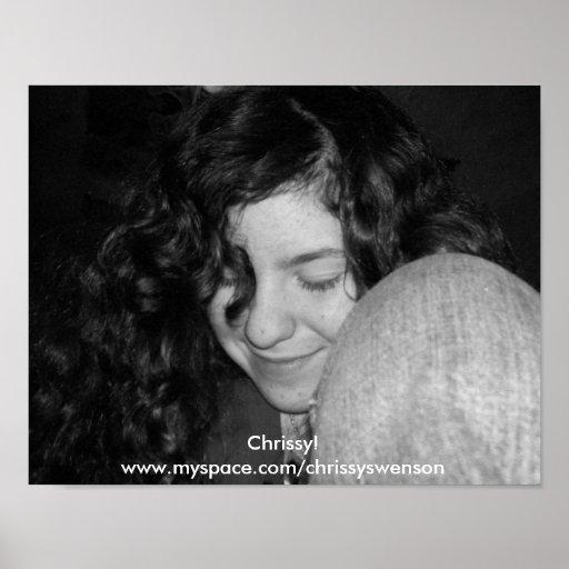 Chrissy! B&W Poster