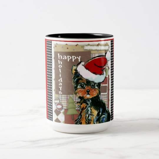 CHRISSY YORKIE POO Two-Tone COFFEE MUG