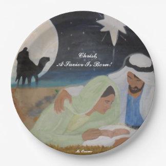 Christ, A Savior Is Born! Paper Plate