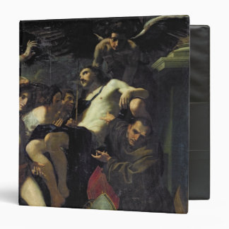 Christ Adored by Angels, St. Sebastian 3 Ring Binder