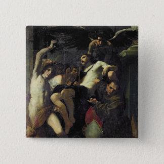Christ Adored by Angels, St. Sebastian Button