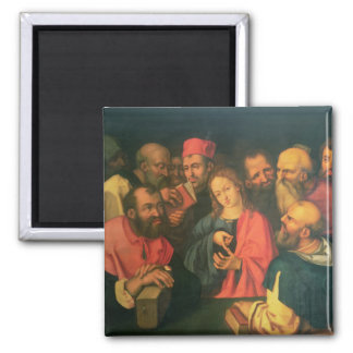 Christ, aged twelve, among the scribes 2 inch square magnet