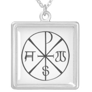 Christ - Alpha and Omega Silver Plated Necklace