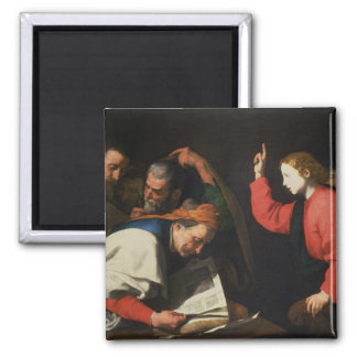 Christ among the Doctors, c.1630 2 Inch Square Magnet