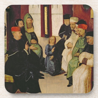 Christ Among the Doctors (oil on panel) Drink Coaster