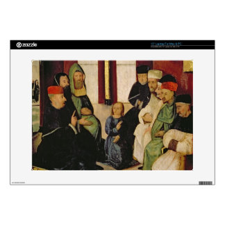Christ Among the Doctors (oil on panel) Skins For Laptops