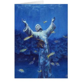 christ and angelfish card