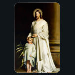 """Christ and Child. Fine Art Easter Gift Magnets<br><div class=""""desc"""">Easter Christian Gift Fine Art Magnets. &quot;Christ and Child&quot; , Oil Painting, circa 1873. Artist : Carl Heinrich Bloch. Matching cards, postage stamps and other products available in the Holidays / Easter Category of our store. Happy Easter, Buona Pasqua, Felices Pascuas, Frohe Ostern, Joyeuses P&#226;ques, Feliz P&#225;scoa , Szczęśliwej Wielkanocy,...</div>"""