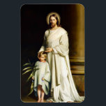 "Christ and Child. Fine Art Easter Gift Magnets<br><div class=""desc"">Easter Christian Gift Fine Art Magnets. &quot;Christ and Child&quot; , Oil Painting, circa 1873. Artist : Carl Heinrich Bloch. Matching cards, postage stamps and other products available in the Holidays / Easter Category of our store. Happy Easter, Buona Pasqua, Felices Pascuas, Frohe Ostern, Joyeuses P&#226;ques, Feliz P&#225;scoa , Szczęśliwej Wielkanocy,...</div>"