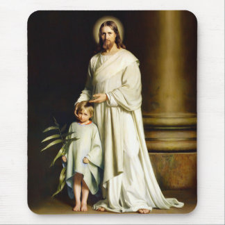 Christ and Child. Fine Art Easter Gift Mousepads