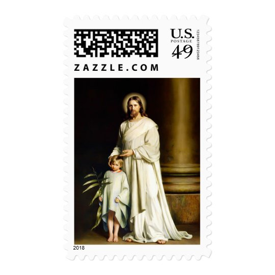 Christ and Child. Fine Art Postage Stamps