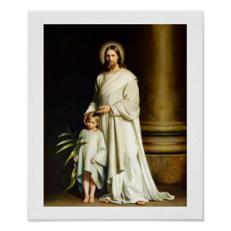 """Christ and Child"" Painting by Carl Bloch. Poster"
