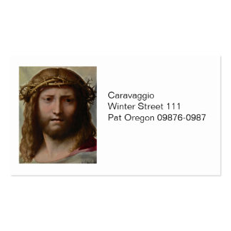Christ and Crown of Thorns Double-Sided Standard Business Cards (Pack Of 100)
