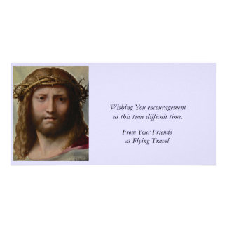 Christ and Crown of Thorns Custom Photo Card