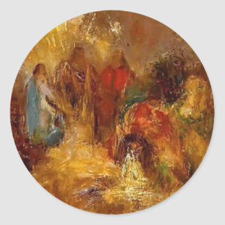 Christ and His Desciples by Odilon Redon Stickers